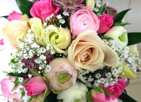 Rose & Ranunculus Bright Bridal Bouquet