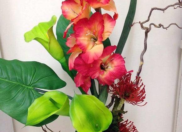 Crisp Calla Lily Vase Display