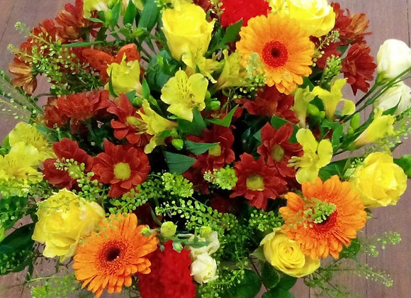 Orange Germini Colourful Bouquet
