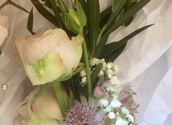 Spray Rose & Eucalyptus Buttonhole