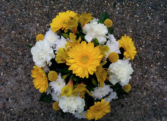 Yellow & White Funeral Posy
