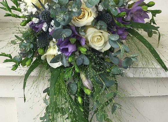 Wild Violet Charm Shower Bridal Bouquet