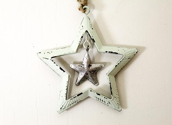Mint Green Star Decoration