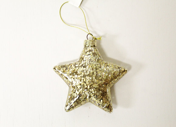 Golden Glass Star Decoration