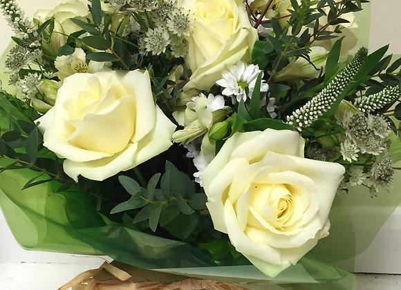 White Rose Mix Bouquet