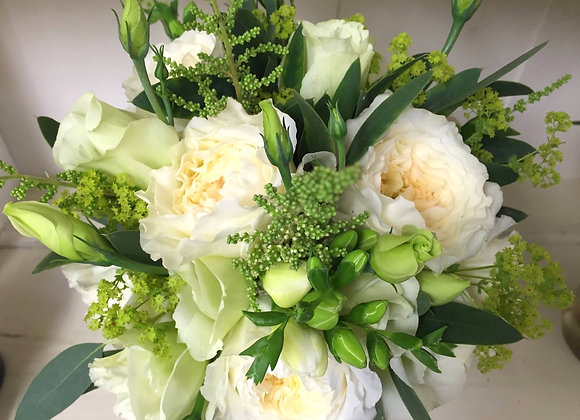 David Austin Rose & Lime Bridal Bouquet