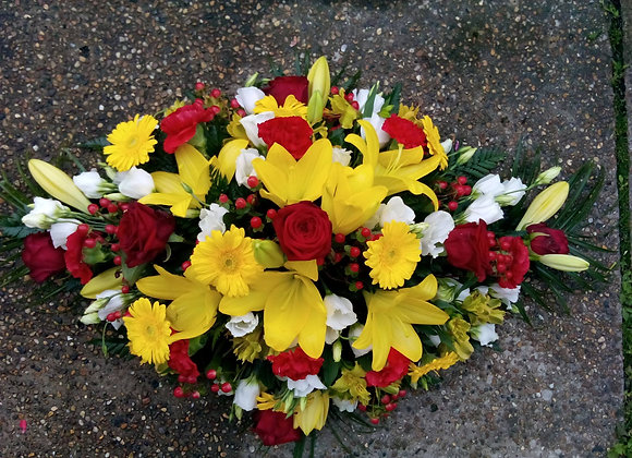 Yellow & Red Double-Ended Coffin Spray