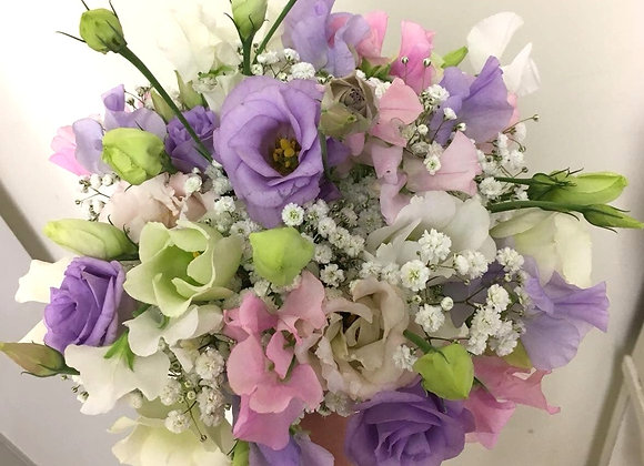 Sweet Pea Delight Bridal Bouquet