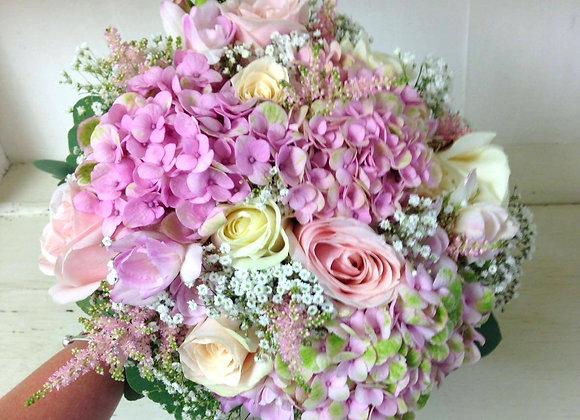Hydrangea & Rose Summer Mix Bridal Bouquet