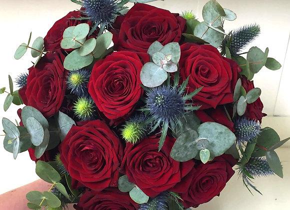 Rose & Eryngium Bridal Bouquet