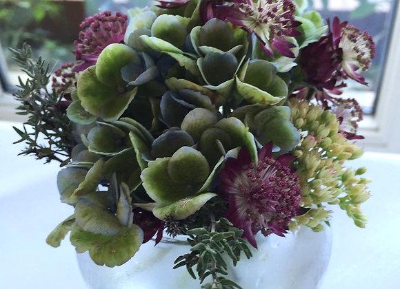Hydrangea & Astrantia Fish Bowl