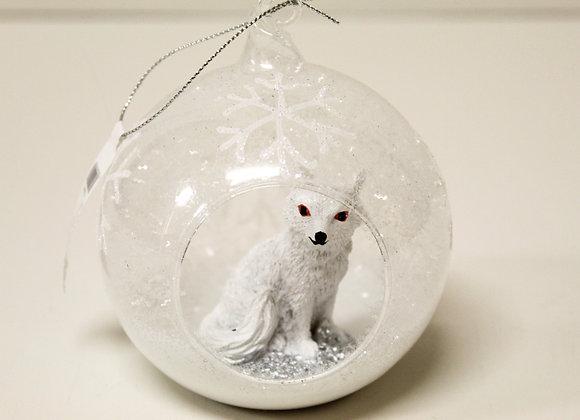 Snowy Wolf Tree Decoration
