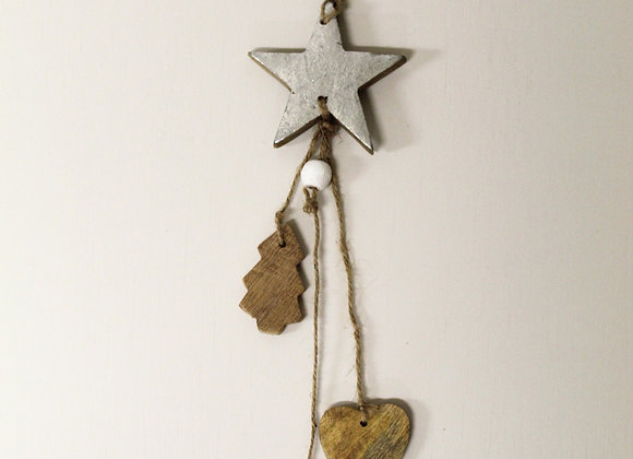 Silver Star Tree Decoration