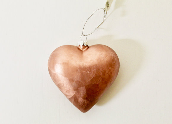 Rose Gold Heart Decoration