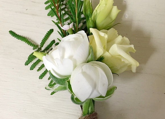White & Cream Buttonhole