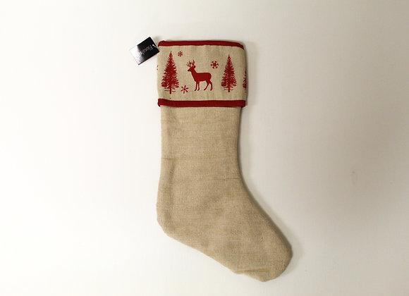 Bespoke Linen Christmas Stocking