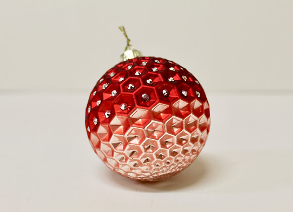 Red Ombre Diamonte Bauble