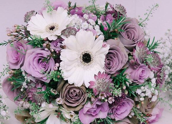 Dusky Rose & Gerbera Bridal Bouquet