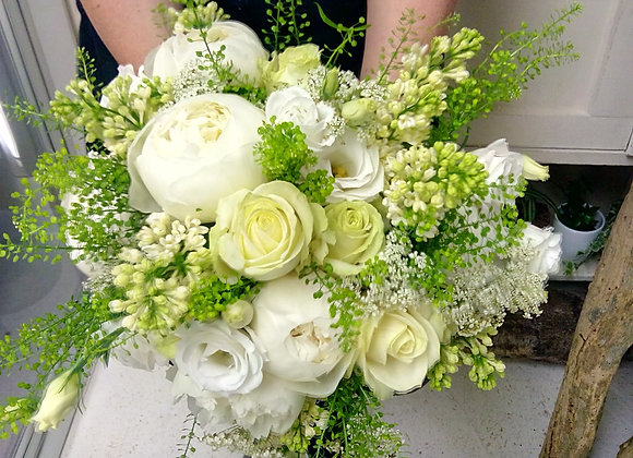 White Spring Delight Bridal Bouquet
