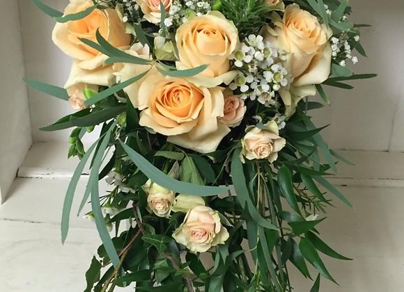 Soft Apricot Bridal Shower Bouquet