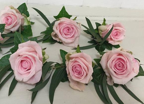 Pale Rose & Eucalyptus Buttonhole
