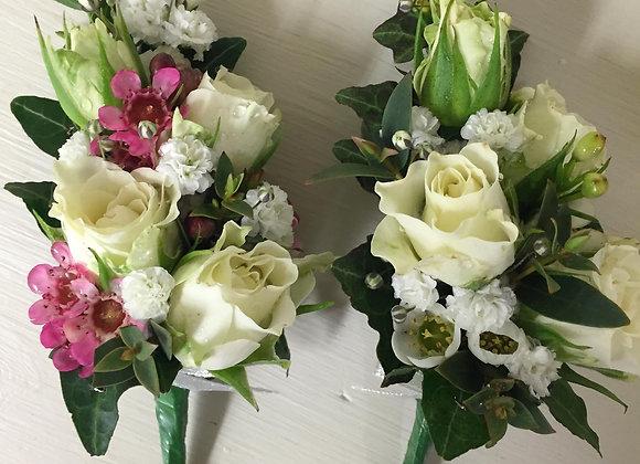 Spray Rose & Wax Flower Body Corsage