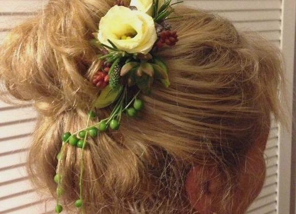Wedding Hair Corsage