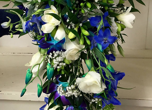 Peacock Shower Bridal Bouquet