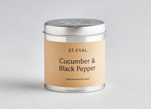 Cucumber & Black Pepper Scented Tin Candles