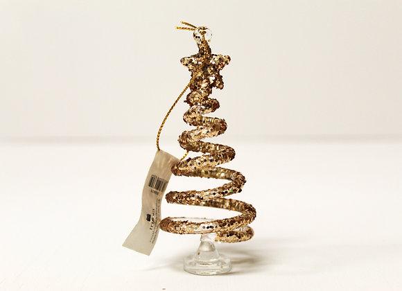 Swirly Whirly Golden Tree Decoration