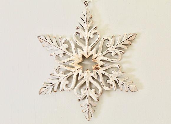White Metal Snowflake Decoration