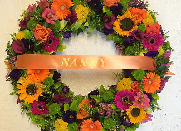 Vibrant Open Loose Funeral Wreath