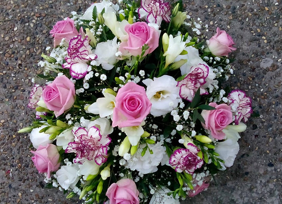 Pink, Lime & Cream Funeral Posy