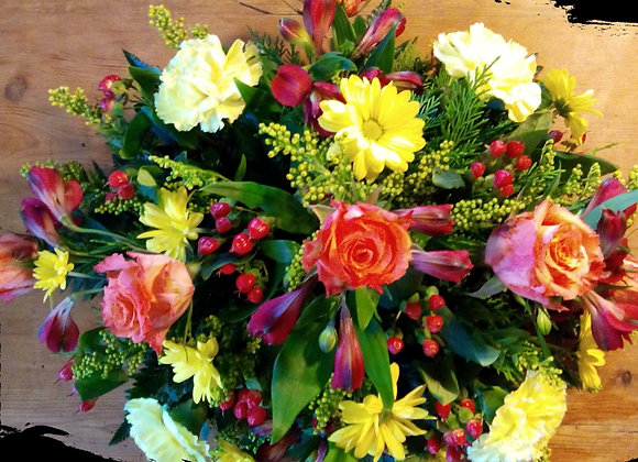 Colourful Berry Funeral Posy