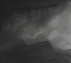 Fusain Vapeur nocturne 59x64 2012