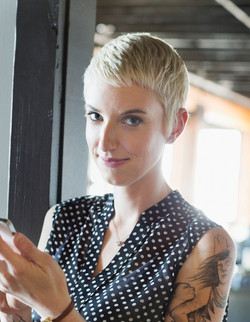 Woman with Short Blond Hair