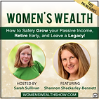 shannon and Sarah Sullivan beside the logo for Women's Wealth