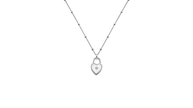Sterling siver padlock pendant and chain