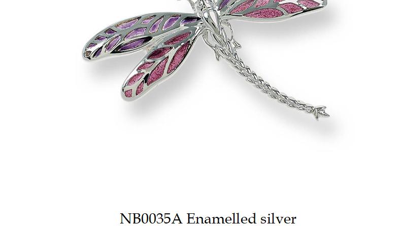 Fine enamel brooch