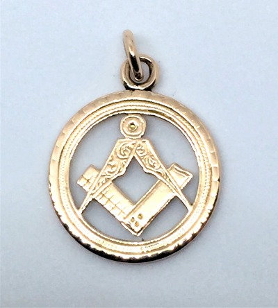 9ct Rose gold Masonic pendant