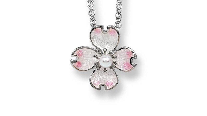 Fine enamel necklace