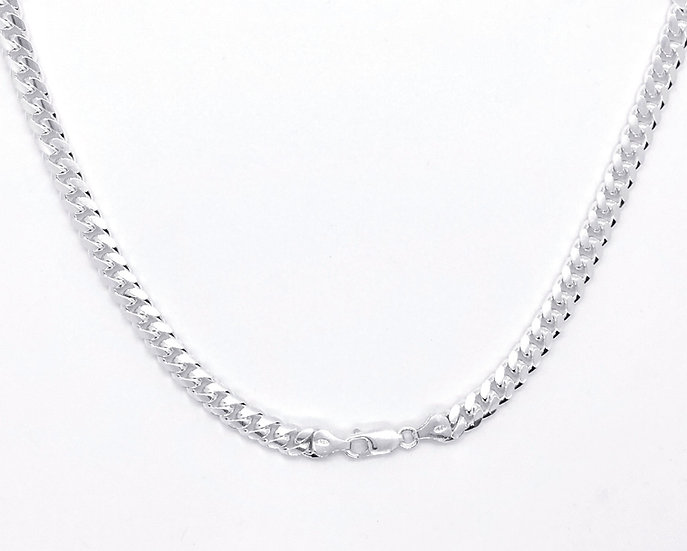 "20"" Sterling Silver smooth curb chain"