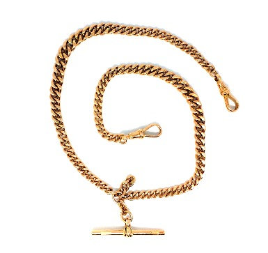 9ct Rose gold Double watch Albert chain
