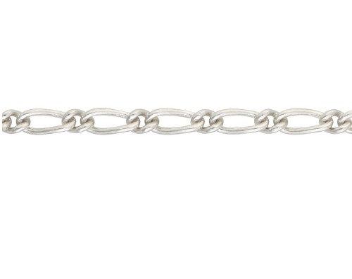 Silver Figaro link bracelet