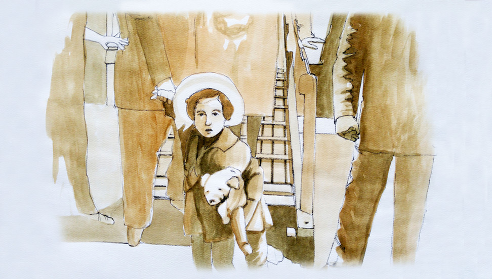 Young Girl on the Steamship Quanza, hoping to be allowed in the US.