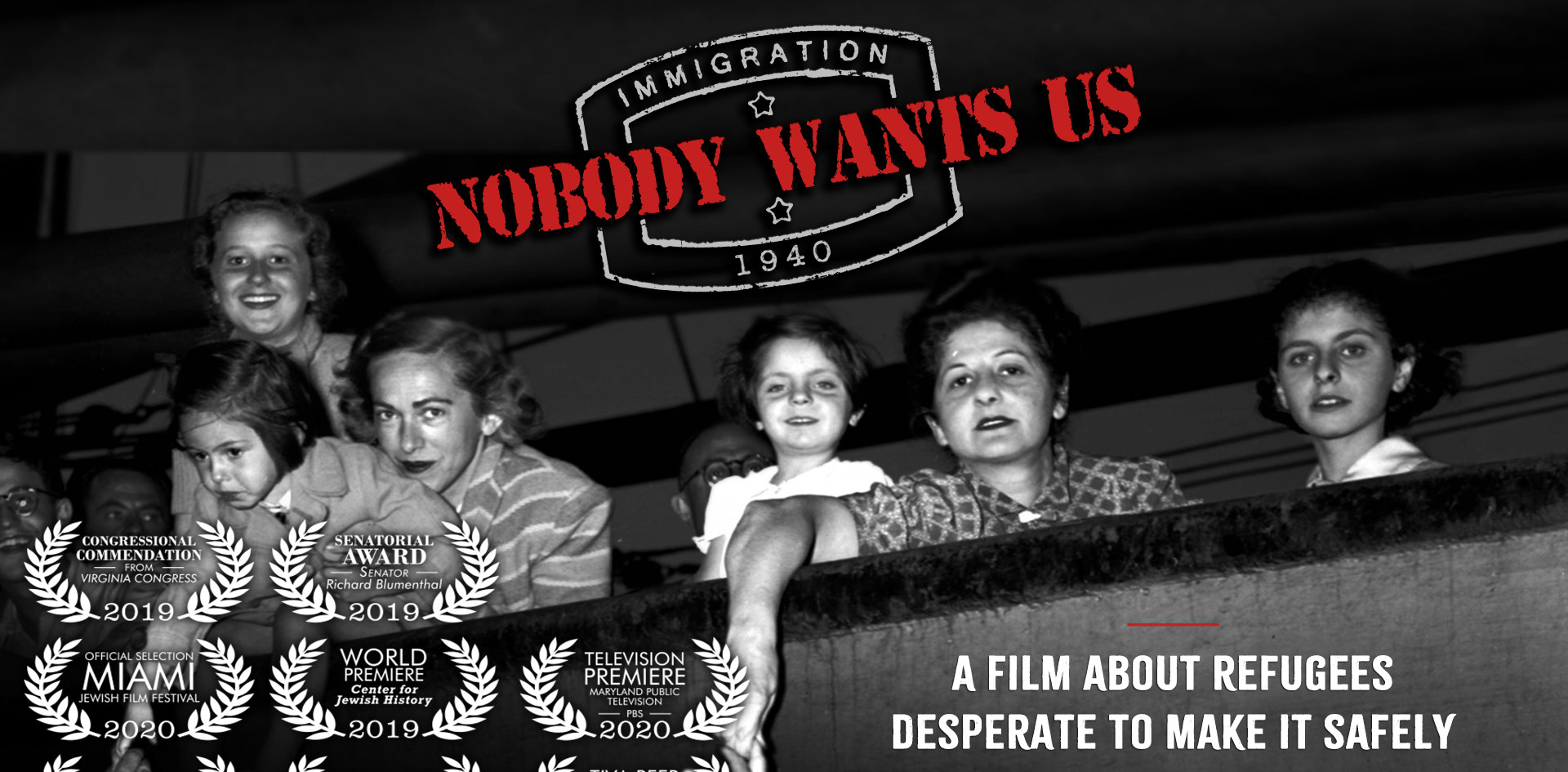 "Horizontal Poster for ""Nobody Wants Us"""