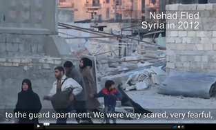 Syrian Muslims dodging bombs in 2012