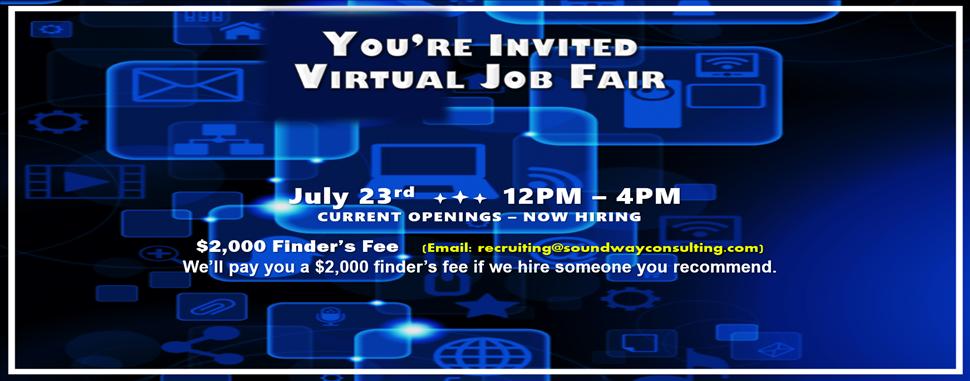 Virtual Recruiting Job Vacancy Graphic 2