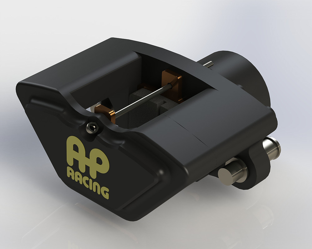 CAD Model created as part of the rear brake packaging study