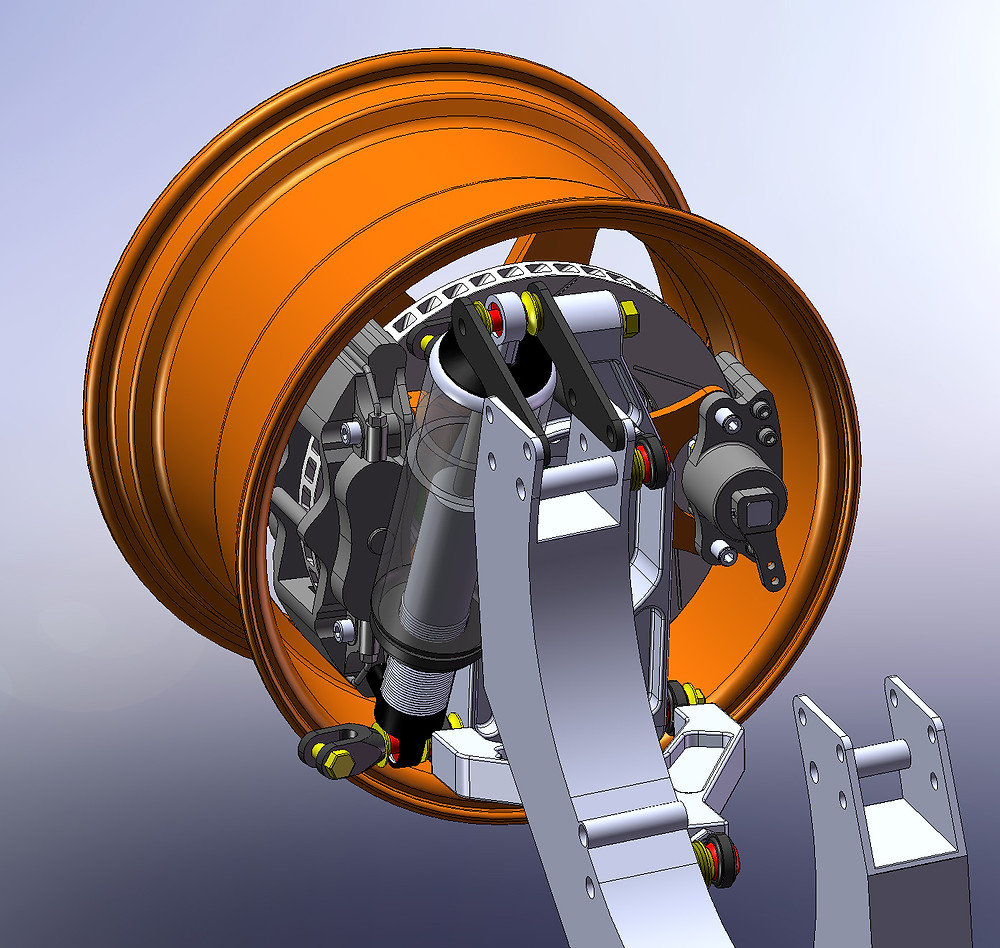 CAD design of the rear suspension upright for the GT40